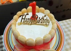 1歳誕生日手作りケーキ