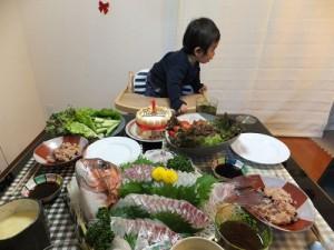 1歳の誕生日パーティ料理写真