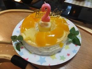 2歳の誕生日ゼリーケーキ