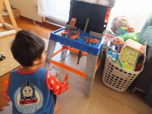 2歳の誕生日に工具セット