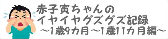 赤子寅ちゃんのイヤイヤグズグズ記録 1歳9ヶ月~1歳11ヶ月